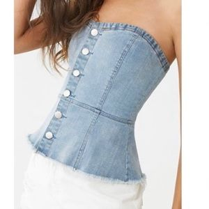 Forever 21 | Denim Tube Top